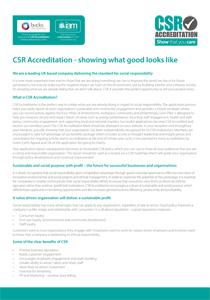 CSR Accreditation Introduction