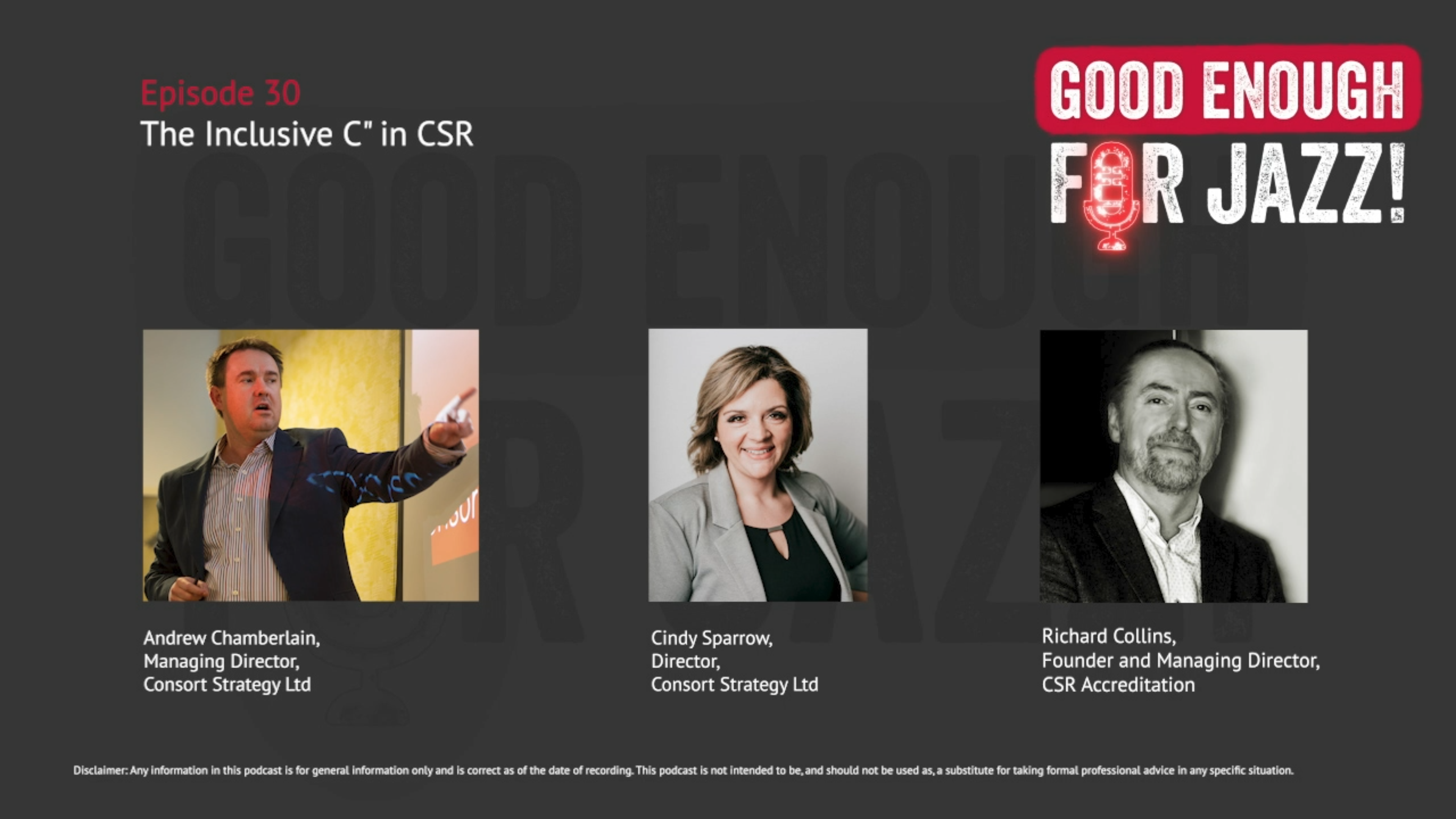CSR-Interview Richard Collins on Good Enough For Jazz