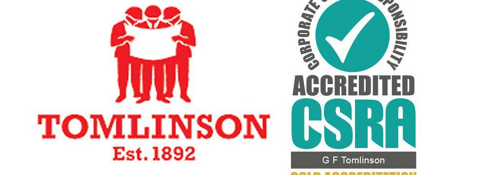 CSR Accreditation G F Tomlinson